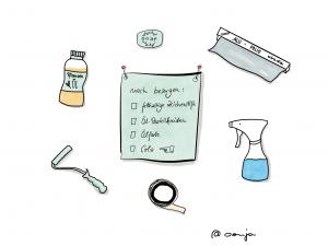 Sketchnotes Besorgungsliste